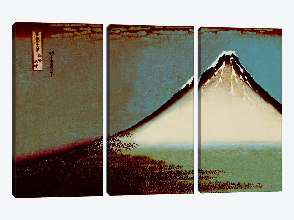 Mount Fuji in a Haze by 5by5collective 3-piece Canvas Wall Art