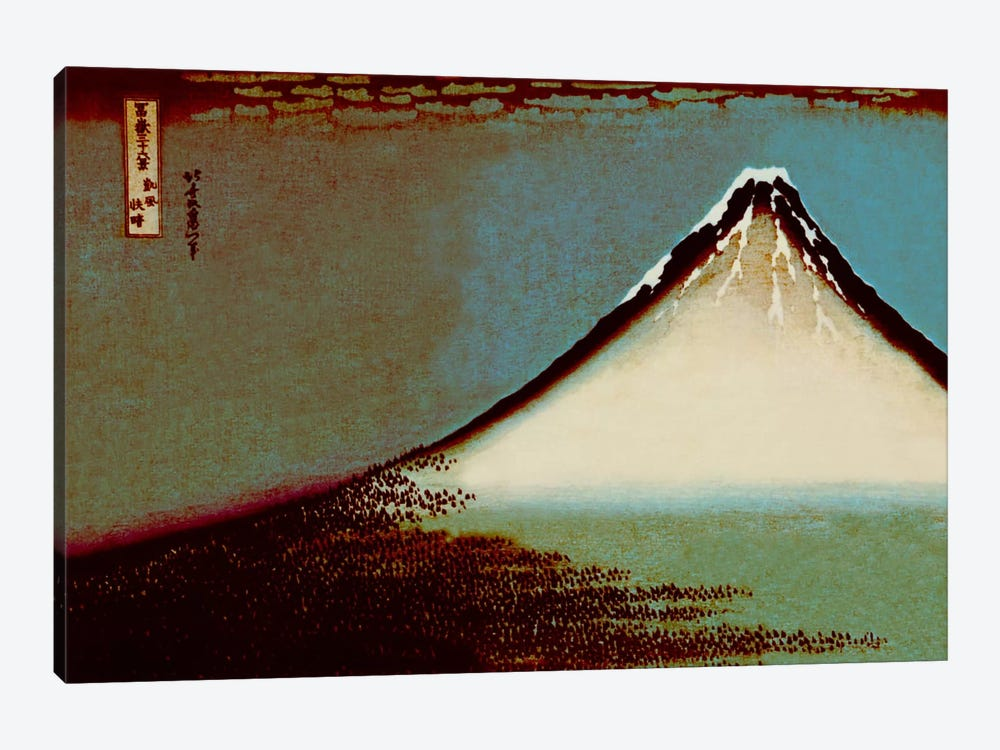 Mount Fuji in a Haze by 5by5collective 1-piece Canvas Wall Art