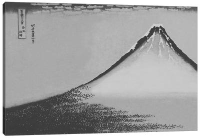 Sketch of Mount Fuji Canvas Art Print