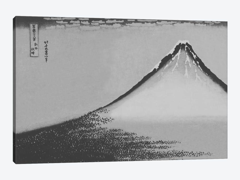 Sketch of Mount Fuji by 5by5collective 1-piece Canvas Artwork