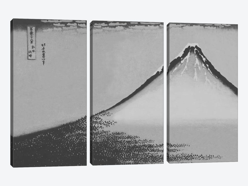 Sketch of Mount Fuji by 5by5collective 3-piece Canvas Art