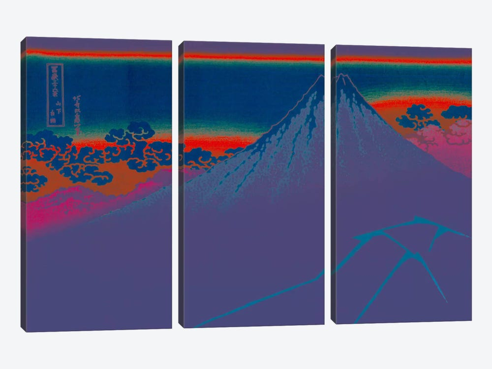 Blue Lightning Below the Summit by 5by5collective 3-piece Canvas Art