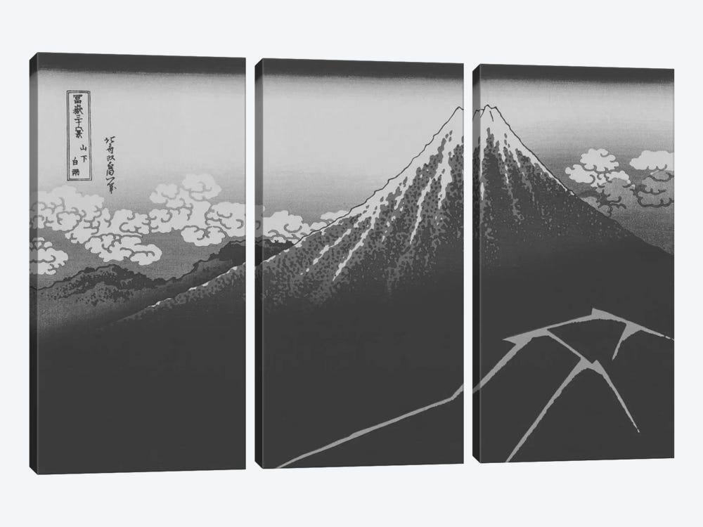 Sketch of Lightning Below the Summit by 5by5collective 3-piece Canvas Print