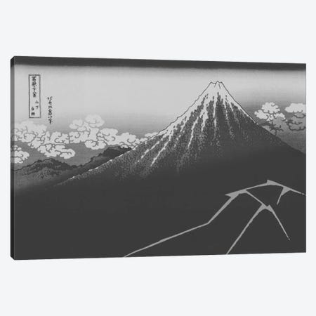 Sketch of Lightning Below the Summit Canvas Print #ICA1033} by 5by5collective Canvas Wall Art