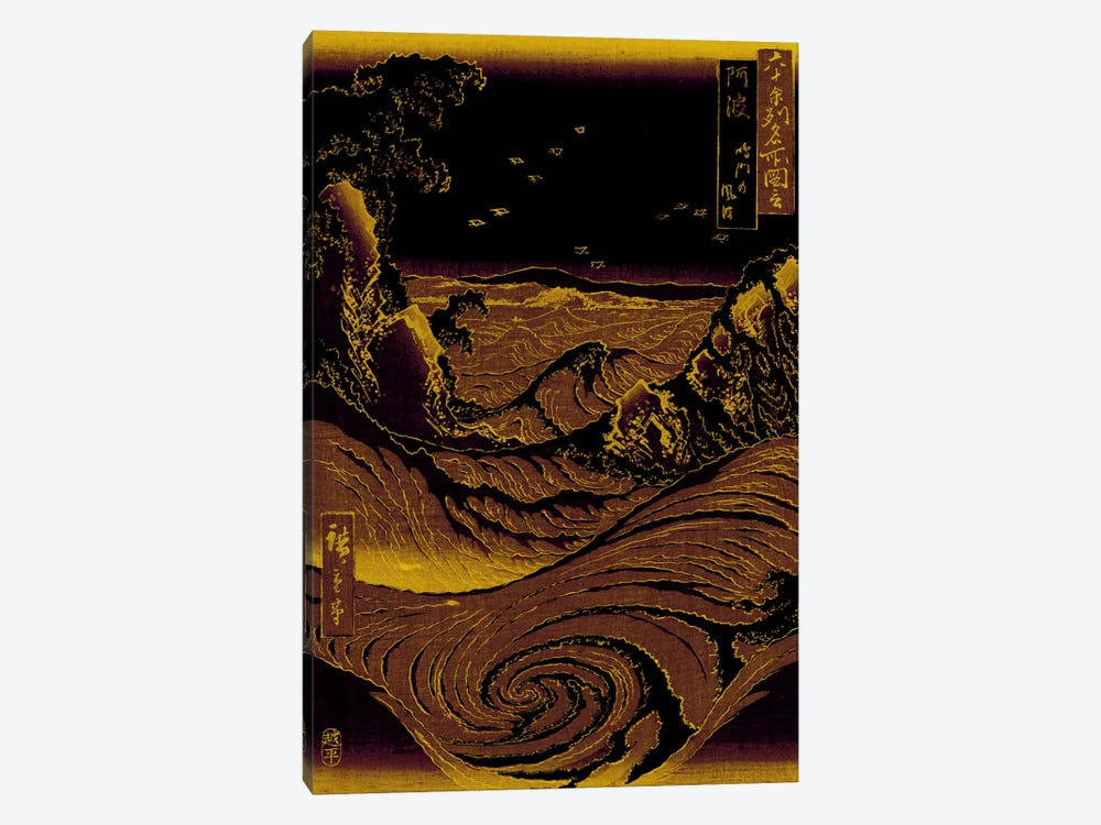 Gold Leaf Crashing Waves by 5by5collective 1-piece Canvas Wall Art