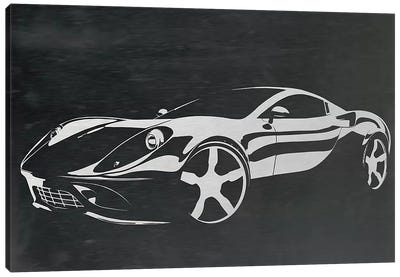 Cruising Brushed Aluminum Canvas Print #ICA1037