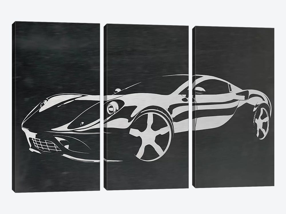 Cruising Brushed Aluminum by 5by5collective 3-piece Canvas Print
