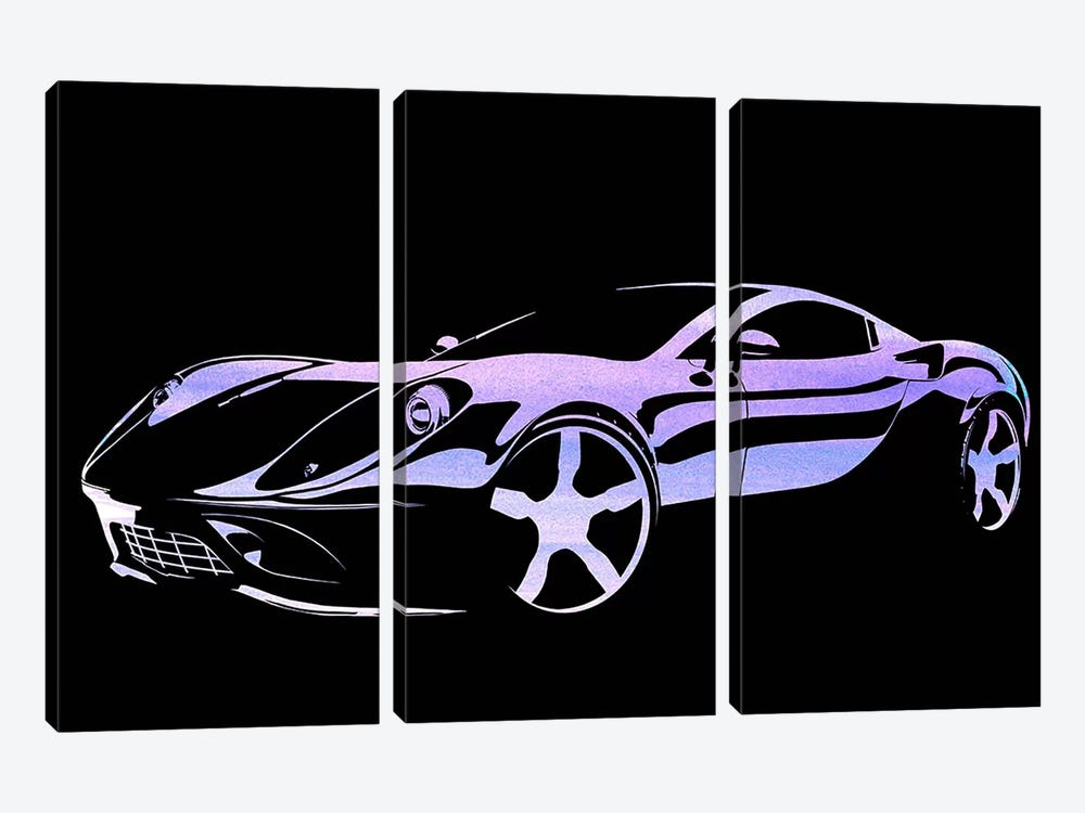 Cruising Purple by 5by5collective 3-piece Canvas Artwork