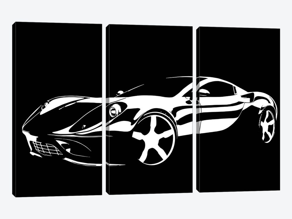 Cruising White by 5by5collective 3-piece Canvas Art Print