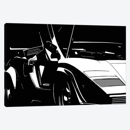 Sleek and Retro White Canvas Print #ICA1040} by 5by5collective Canvas Art Print