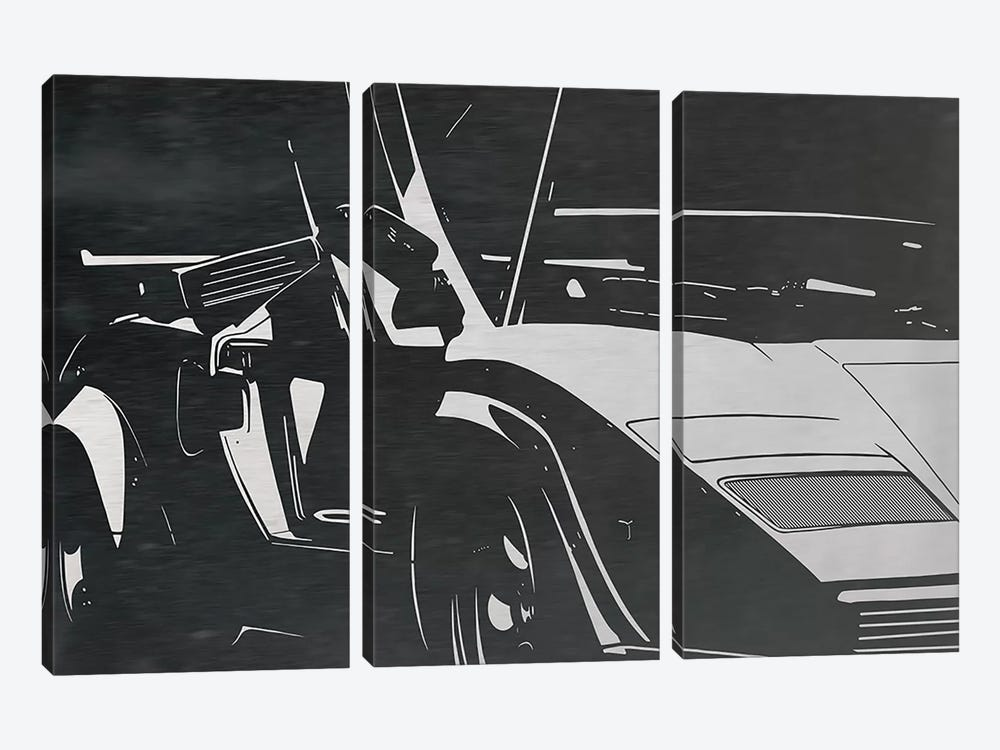 Sleek and Retro Brushed Aluminum by 5by5collective 3-piece Canvas Artwork