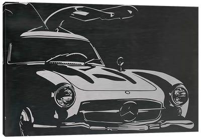 Vintage Wings Brushed Aluminum Canvas Art Print