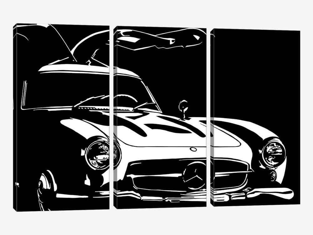 Vintage Wings Black and White by 5by5collective 3-piece Canvas Art