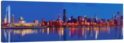 Cross Stitched Chicago Landscape Canvas Art Print