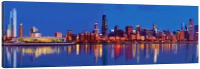 Cross Stitched Chicago Landscape Canvas Art Print