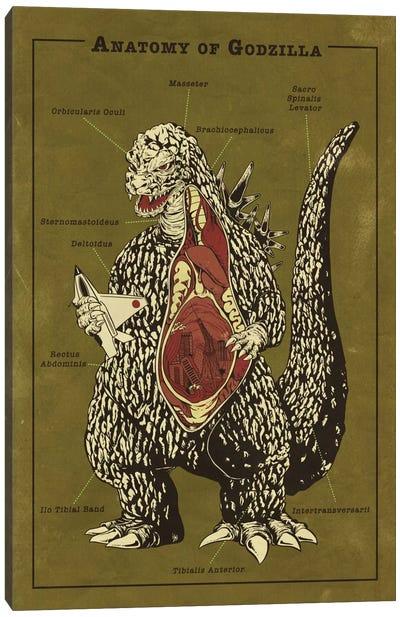Godzilla Anatomy Diagram Canvas Art Print