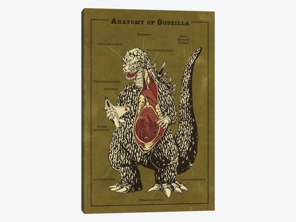 Godzilla Anatomy Diagram by 5by5collective 1-piece Canvas Art