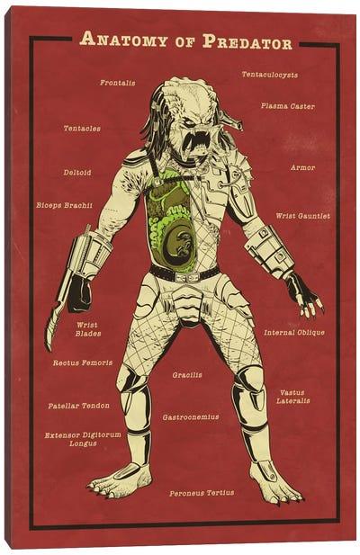 Predator Anatomy Diagram Canvas Print #ICA1054