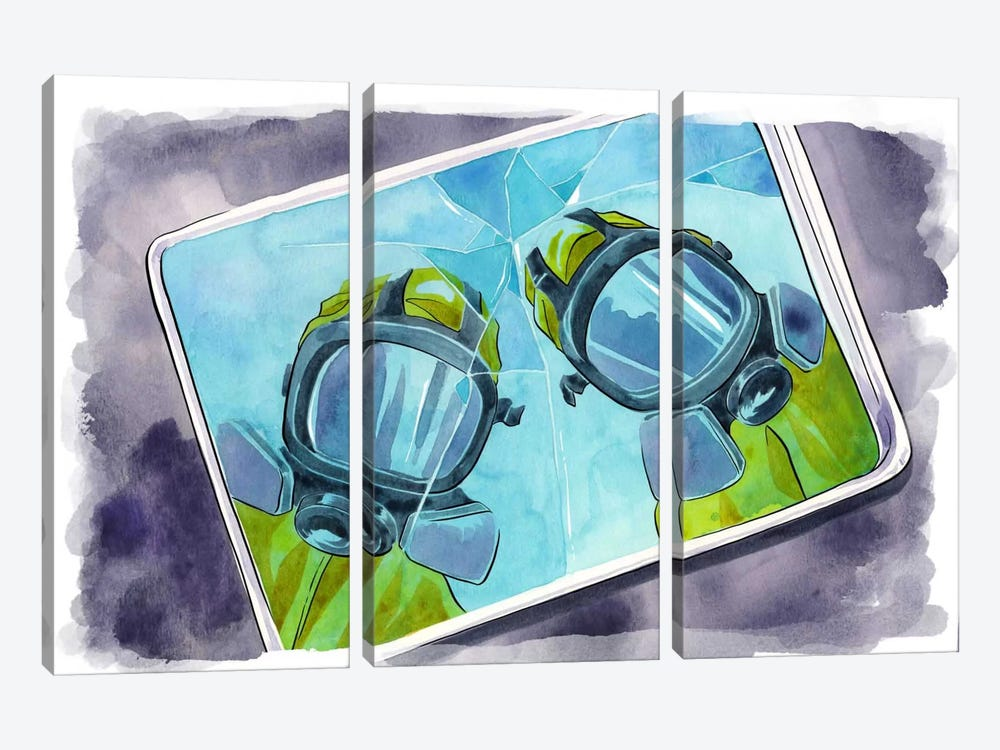 Reflections Bordered by 5by5collective 3-piece Canvas Art