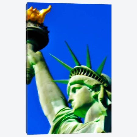 Cross Stitched Statue of Liberty Canvas Print #ICA106} by Unknown Artist Canvas Wall Art