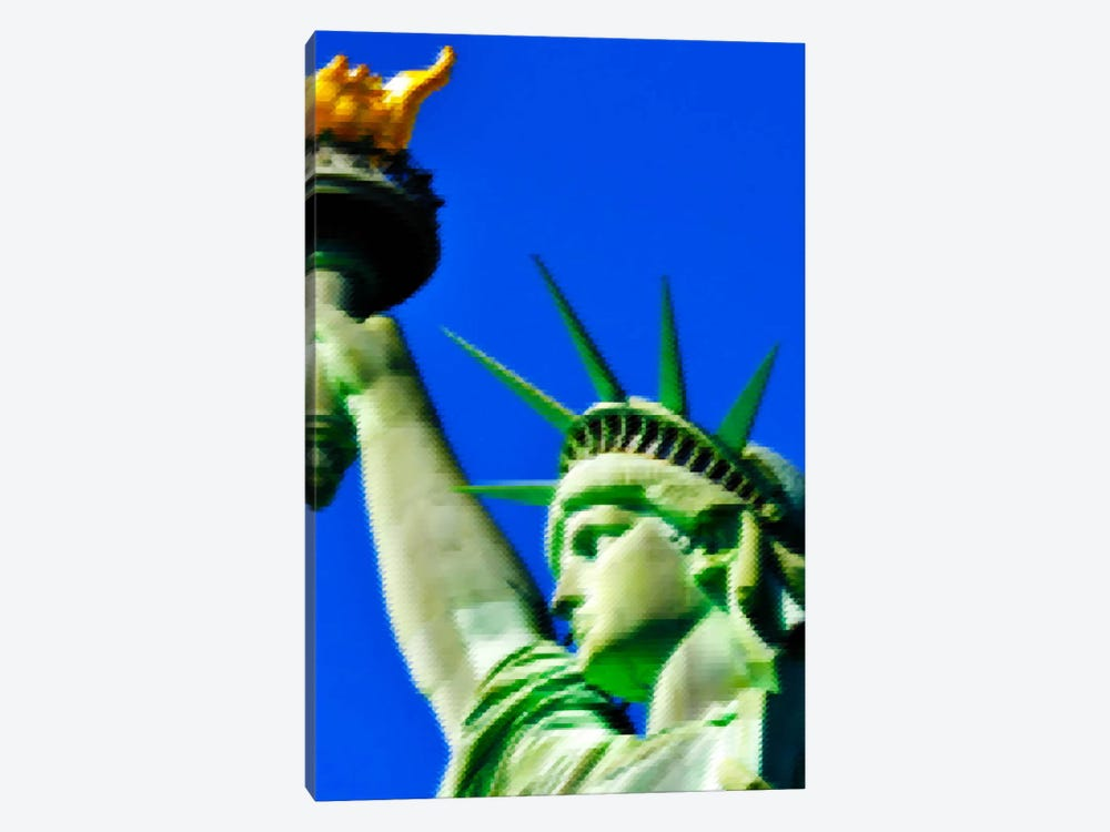 Cross Stitched Statue of Liberty by Unknown Artist 1-piece Canvas Print