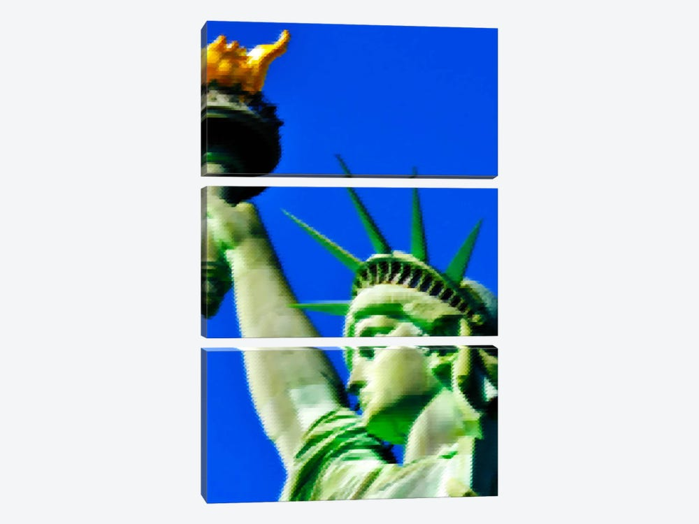 Cross Stitched Statue of Liberty by Unknown Artist 3-piece Art Print