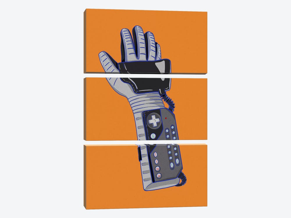 Glove of Power by 5by5collective 3-piece Canvas Art