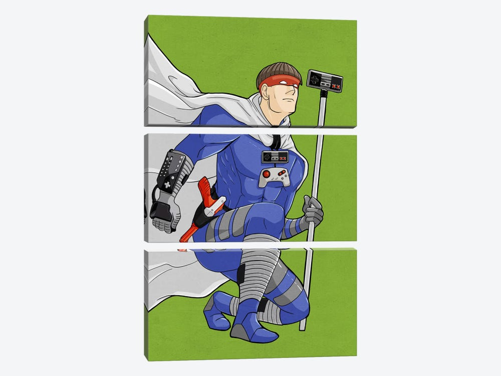 Game Hero by 5by5collective 3-piece Canvas Art Print