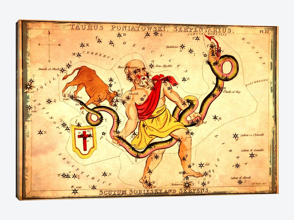 Ophiuchus1825 by Sidney Hall 1-piece Canvas Wall Art