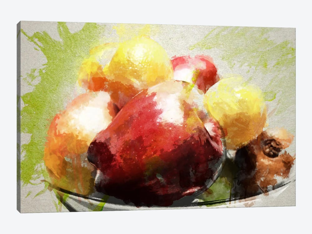 Watercolor Still Life by Unknown Artist 1-piece Canvas Wall Art