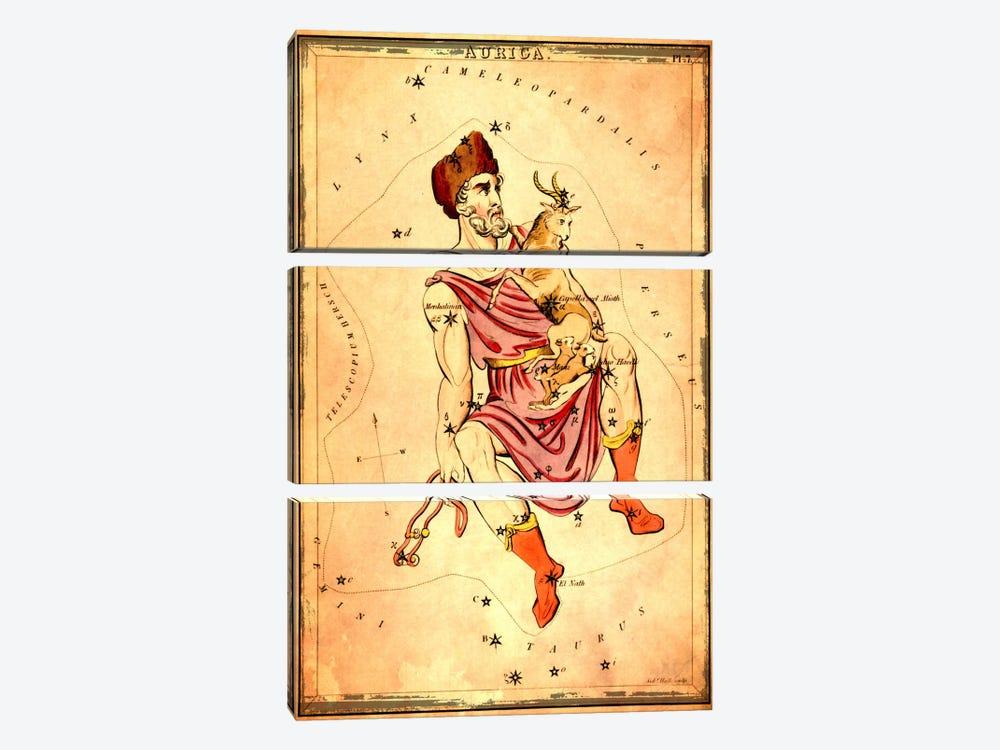 Auriga 1825 by Sidney Hall 3-piece Canvas Art Print
