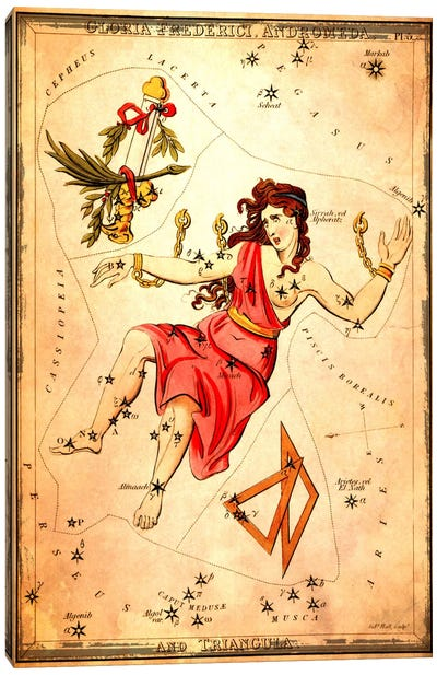 Gloria Frederici Andromeda, & Triangula Canvas Art Print