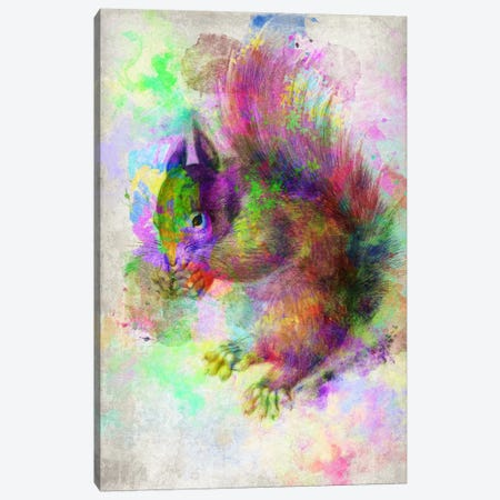 Watercolor Squirel Canvas Print #ICA108} by Unknown Artist Canvas Print