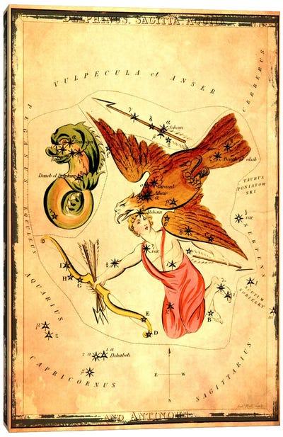 DelphinusSagitta, Aquila, & Antinous Canvas Art Print