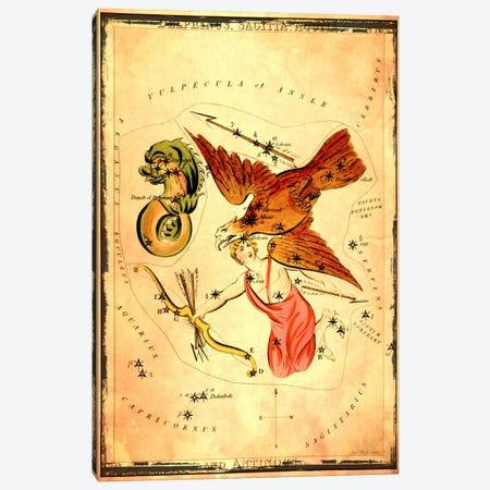 DelphinusSagitta, Aquila, & Antinous Canvas Print #ICA1091} by Sidney Hall Canvas Artwork