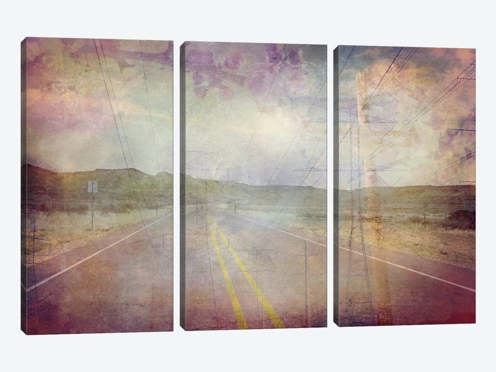 Life is a Highway by iCanvas 3-piece Canvas Wall Art