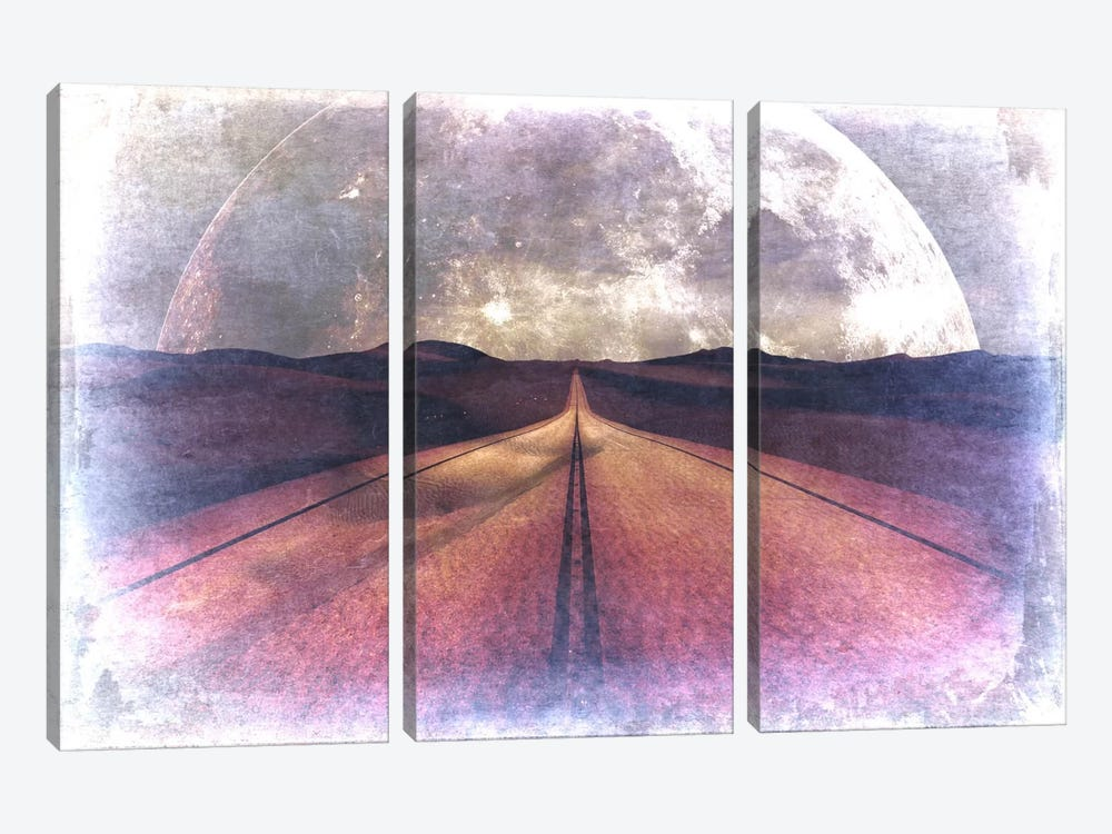 To the Moon, Lucy 3-piece Canvas Artwork