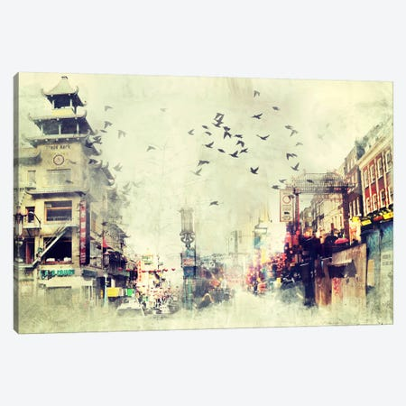 China Flock Canvas Print #ICA1106} by Unknown Artist Art Print