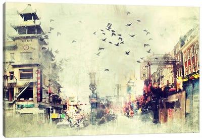 China Flock Canvas Art Print