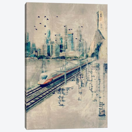 Rails in the Sky Canvas Print #ICA1113} by Unknown Artist Canvas Art Print