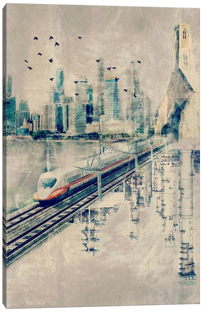 Rails in the Sky by iCanvas Canvas Art Print