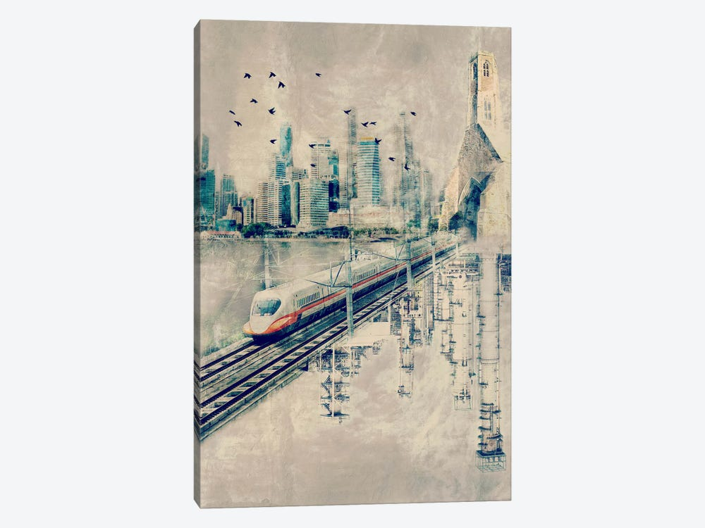 Rails in the Sky by iCanvas 1-piece Canvas Wall Art