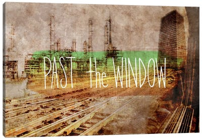 Past the Window Canvas Art Print