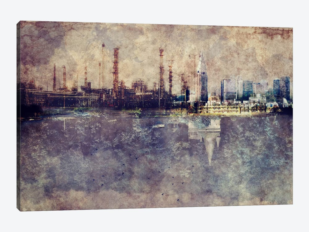 City in Smog 1-piece Canvas Art