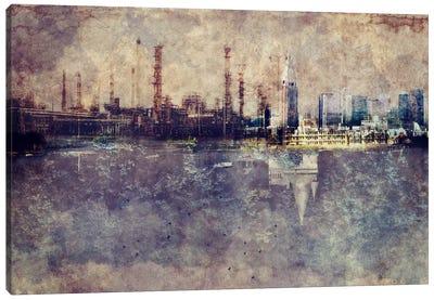 City in Smog Canvas Art Print