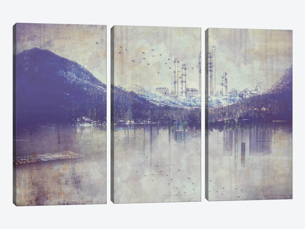 View from the Lake by iCanvas 3-piece Canvas Art