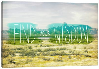 Find Your Wisdom Canvas Print #ICA1124