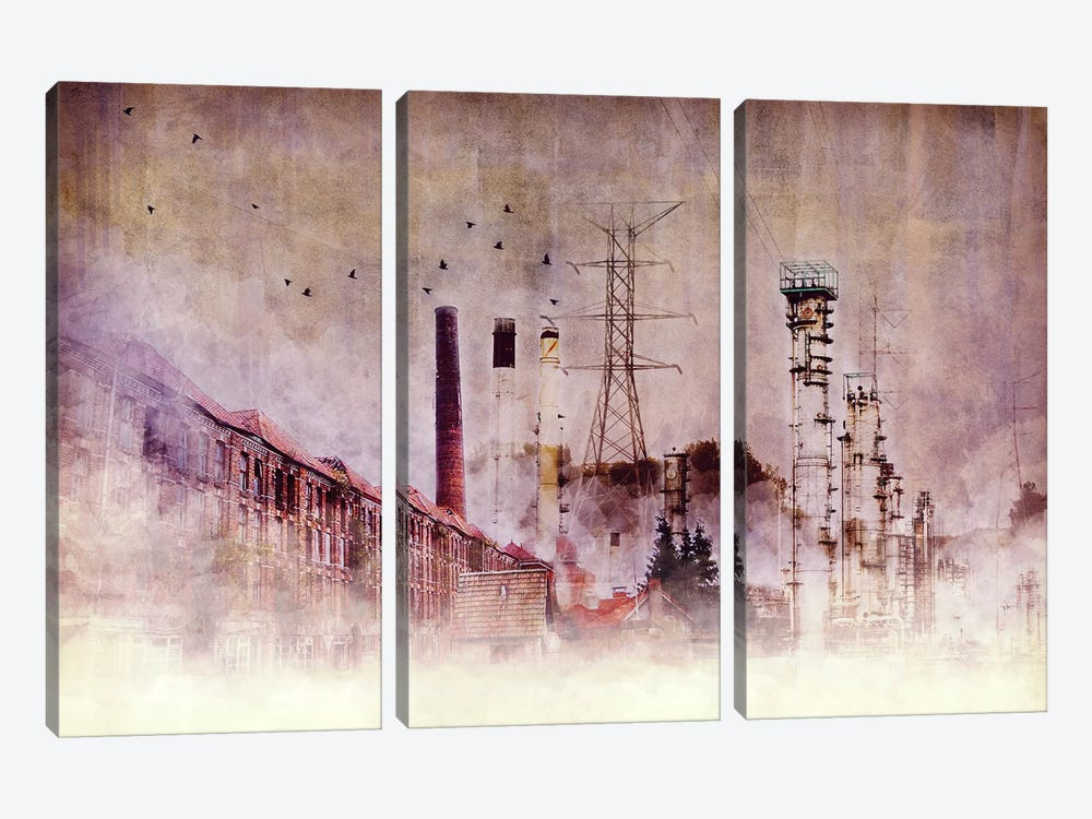 Backbone of Industry by Unknown Artist 3-piece Canvas Art