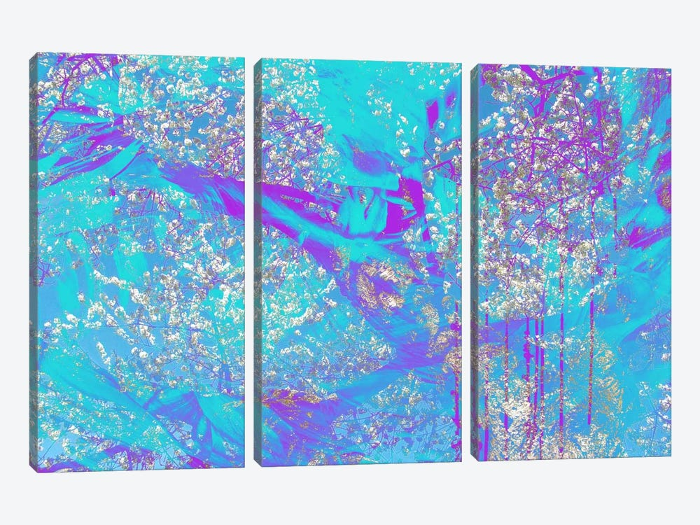 Streaks of Almond Blossoms by 5by5collective 3-piece Canvas Artwork