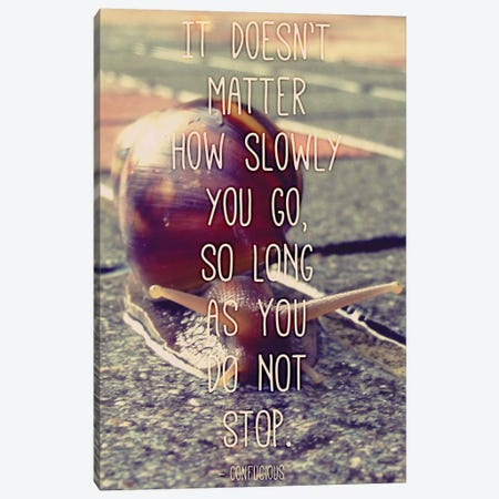 At a Snails Pace Canvas Print #ICA112} by Unknown Artist Canvas Artwork